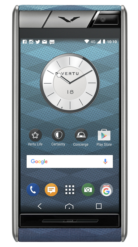 Vertu Aster Chevron Blue. New model of luxury phone